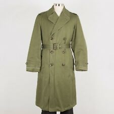 Mens 1950s Us Military Overcoat Size Smal Long O.G. 107