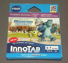 Monsters University InnoTab 3 Software Problem Solving Game Memory Logic Vtech