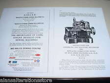 Singer 81k Ind Sewing Machine Overlocker Instruction Manual (NOT MACHINE)1 - 22
