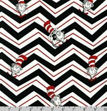 SEUSS - 'THE CAT IN THE HAT 2' ZIG-ZAGS FABRIC - KAUFMAN