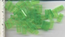 LEGO x 50 Trans-Bright Green Tile 1 x 2 with Groove NEW