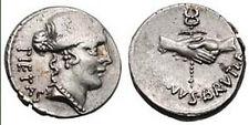 Republican Rome, Albinus Bruti, AR Silver Denarius, Rome 48 B.C. Nice coin!