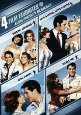 4 Film Favorites Elvis Presley Musicals Tickle Me Girl Happy Kissin R4 DVD