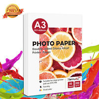Premium High Glossy A3 Inkjet Printer Photo Paper 200g Double Sided 50 Sheets