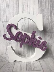 20cm Personalised Letters Freestanding, Glitter Name, Bedroom Decor,