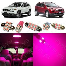 15x Pink LED Interior Lights Package Kit for 2014-2018 Jeep Cherokee +Tool JC1P