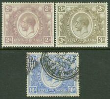 EDW1949SELL : KENYA U & T 1922-27 Scott #30, 32 VF MOG & #36 VF Used. Cat $100.