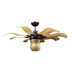 Vento Fiore 42 in. Indoor Roman Bronze Retractable Ceiling Fan w/ Remote Control