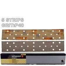 Rhynogrip Plusline 70x420mm P40 Grit 5x HookNLoop Grip Abrasive Sanding Strips