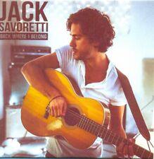 JACK SAVORETTI - Back where I belong 3TR ACETATE PROMO CDS 2015 / RARE