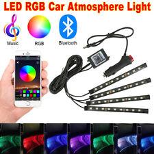 4x9 LED RGB Car Interior Atmosphere Light Strip Phone Bluetooth Music Control