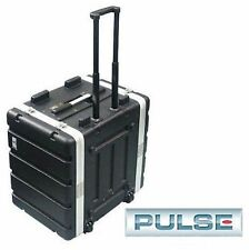 NEW Rolling 8 Rack Space Pro Audio ABS Plastic Road Case. Roller Unit w/Handle.