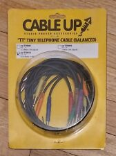 """TASCAM CABLE UP cu/TT08015 1.5 ft """"TT"""" Tiny Telephone Patch Cables Package Qty 8"""