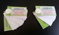 Geocaching Logbücher 2 Stück für je 72 Logs abriebfest Logbuch Versteck