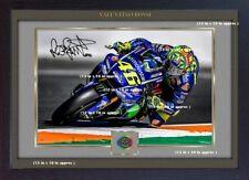 Valentino Rossi Yamaha Signed autograph print Motor Sport Memorabilia Framed