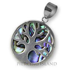 925er Silber Anhänger Abalone Perlmutt Baum Des Lebens Ps370