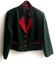 Damen Trachten Janker Jacke grün rot Gr. 44 v. Yessica