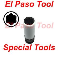 "Baum Tools 17mm ""Flower Shaped"" Long Lug Nut Impact Socket for Mercedes"