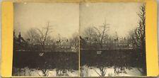 Paysage sous la neige Hiver Photo Stereo Vintage Albumine