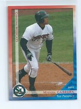 Miguel Cabrera 2003 Grandstand Carolina Mudcats Top Prospects Rookie Card