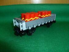 LEGO TRENO TRAIN EISENBAHN CITY BIN TRANSPORT WAGON BIDONI VAGONI COLORI MOC