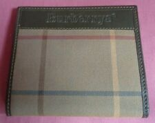 Burberry Fold Over Leather Wallet