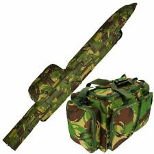 DPM CAMO Carp Fishing 3+3 Rod & Reel Holdall And Tackle Carryall Bag Luggage Set