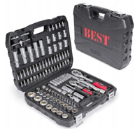 BEST 108Pcs PRO Socket Set Screwdriver Bit Torx Ratchet Driver Tool Case Kit