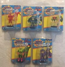 DC Comics SUPER POWERS Micro Figures LOT of 5, Flash, Batman, Robin, Joker & Lex