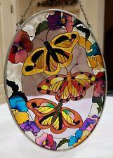 "Butterflies Sun-Catcher 7"" X 5 Hanging Window Art Sliding Glass Patio Lanai Door"
