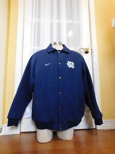 Pre-owned Nike North Carolina Tar Heels Wool Jacket Size Large Made in Canada