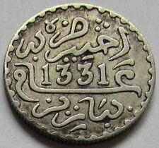 Maroc - Rare 1 dirham 1331 en argent qualité
