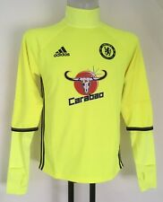CHELSEA YELLOW L/S TRAINING TOP BY ADIDAS SIZE ADULTS SMALL BRAND NEW WITH TAGS