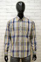 Camicia Uomo CAMEL ACTIVE Taglia Size XL Maglia Shirt Man a Quadri Regular Fit