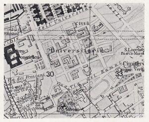 D6131 Rome - City College - Map Period - 1933 Vintage Map