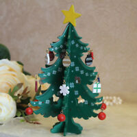 Mini Fold Wood Christmas Tree Ornament Table Desktop Party Home Decor Xmas Gifts