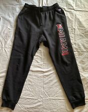 Miami of Ohio University Champion Black Cinched Sweatpants Size Large - GUC