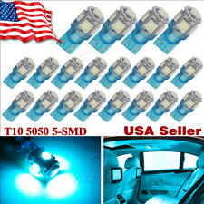 20x Ice Blue T10 5050 LED Dome Map Interior Light Bulbs W5W 168 192 194 2825