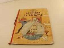 BD Tintin Le secret de la Licorne Hergé édition B35 de 1964
