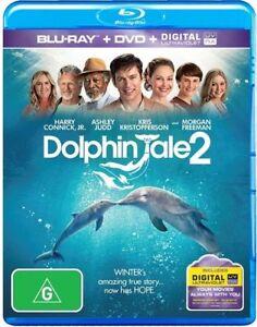 Dolphin Tale 2  - (Blu-ray + DVD + Digital UV ,2014)  Region 4 , B - NEW+SEALED
