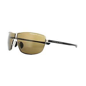 Porsche Design Sunglasses P8616 B V379 Light Gold Brown