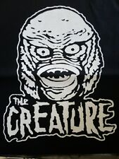 THE CREATURE CULT FILM MOVIE BLACK CANVAS BACK PATCH