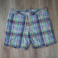 Vintage para hombres Polo Ralph Lauren Nadar Natación Pantalones Cortos 38 sport a cuadros Madras cheque
