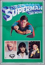 "Movie Poster Superman the Movie 1978 Mylar 21""x30"" VF 8.0 Christopher Reeve"