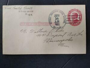 Minnesota: Shoreham Rural Station in Detroit 1913 Postal Card, DPO Becker Co