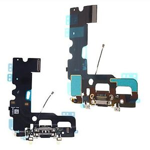 For iPhone 7 Charging Port Dock Connector With Mic & Antenna Flex Black