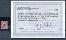 Samoa 10 Pfennig Adler 1900 gute Farbe Michel 3 b Befund (S14451)