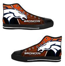 Denver Broncos Mens Custom Sneakers High Top Canvas Casual Shoes