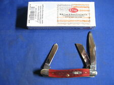 "CASE XX CA786 PATTERN 6318 SS STOCKMA 3-5/8"" OLD RED BONE HANDLE KNIFE NIB"