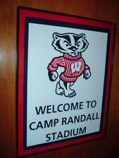 University of Wisconsin Badgers Football Stadium Framed Print Man Cave Sign